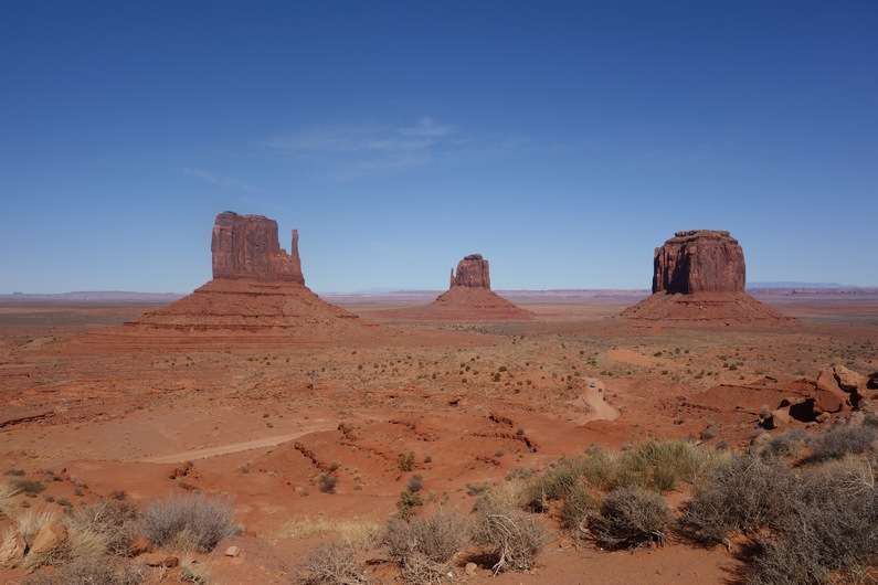 USA The Mittens and Merricks Butte Monument Valley